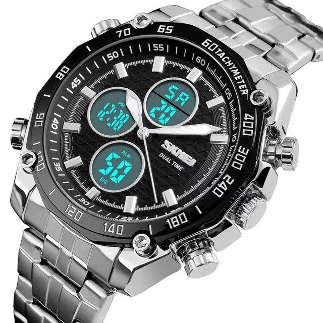 Relógio Masculino Skmei 1302 a Prova d'água Digital e Analógico - Foto 4