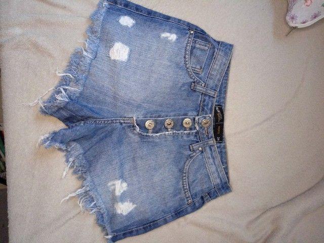 Short Jeans - Cintura alta - 34 - Foto 2