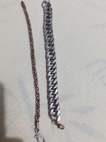Corrente em Elo 1x1 Prata Prata 925 e duas pulseiras - Foto 6