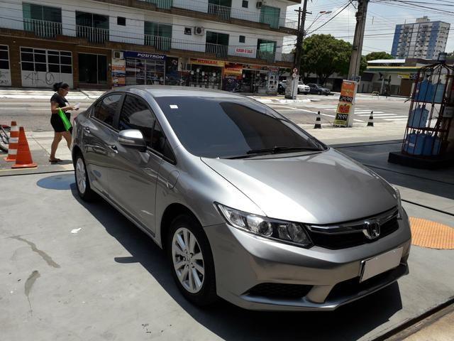 Honda Civic Ano 2013 Lxl 1.8 Flex Automatico é Couro Carro De Mulher