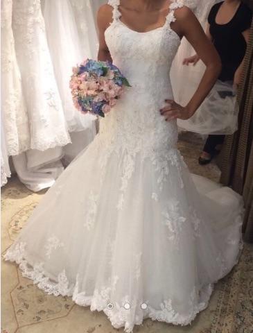 9dfb4e822 Vestido De Noiva M. Zaniratto - Modelo Sereia - Roupas e calçados ...