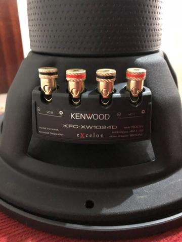 Kit grave amplificador e subwoofer kenwood excelon