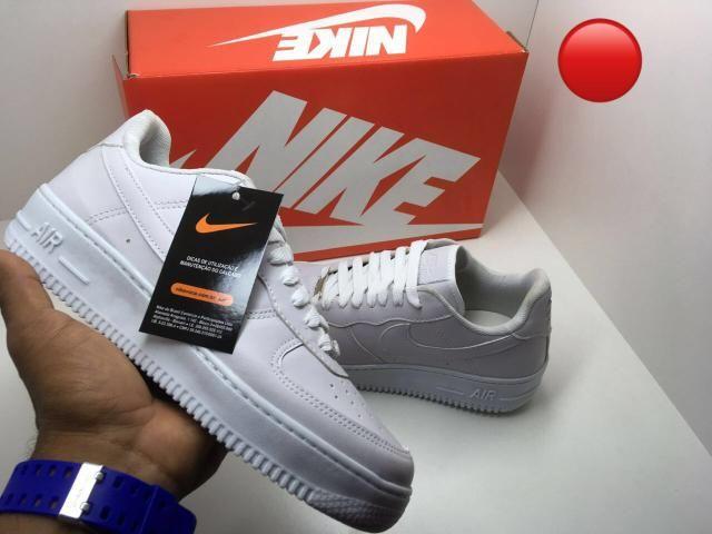 f97360c3b78 Tênis Nike air force branco preto feminino masculino promoção barato ...