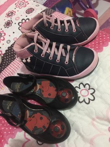 19777843c74 Tênis infantil feminino e sapatilha Lady bug 26 - Roupas e calçados ...