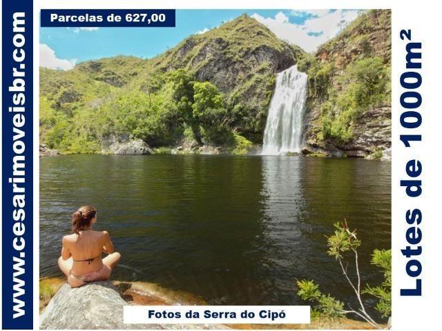 Lotes de 1000 m² próximo a Lagoa Santa, no caminho para a Serra do Cipó. Parc.R$599,00
