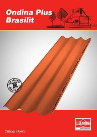 Telha de Fibrocimento Ondina Plus - Cor Cerâmica | 244 x 50 - 5mm - Foto 2