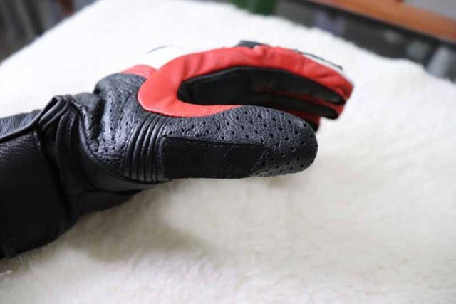 Luvas Rev'it - NOVA - tamanho M/G - L - Vermelho - Preto - Branco Em Couro - Foto 14