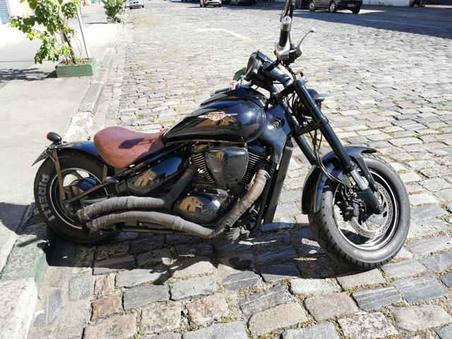 Moto Boulevard 800 ano 2011 com 38 mil km estilo Bobber - Foto 4