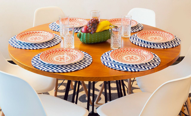 Mesa redonda estilo industrial + 4 cadeiras  - Foto 4