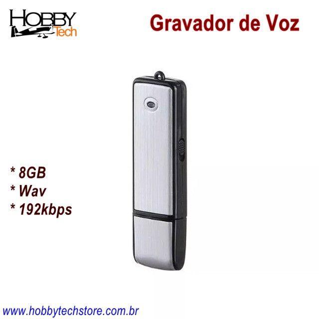 Gravador de Voz USB Pen Drive 8GB SK-858 - Novo