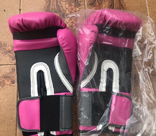 Luva de Boxe Muay Thai Everlast Vollo 12OZ - Foto 3