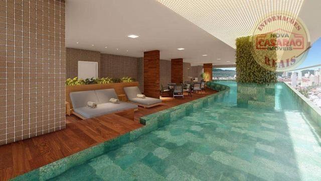 Apartamento com 2 dormitórios à venda, R$ 458.350,00 - Canto do Forte - Praia Grande - Foto 2