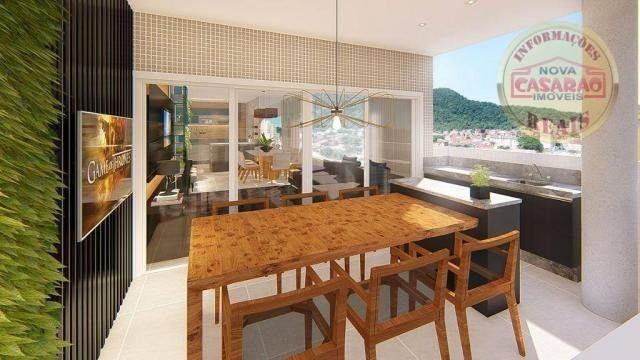 Apartamento com 2 dormitórios à venda, R$ 458.350,00 - Canto do Forte - Praia Grande - Foto 5