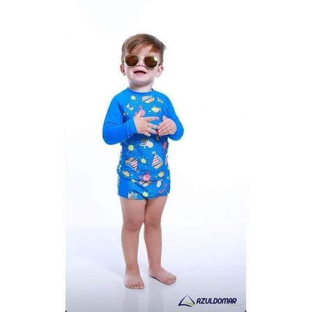 Conjunto infantil de proteção UV - Foto 3
