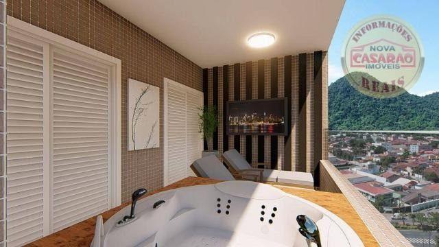 Apartamento com 2 dormitórios à venda, R$ 458.350,00 - Canto do Forte - Praia Grande - Foto 3