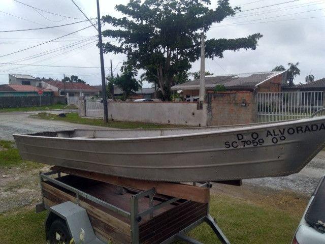 Vendo barco de Alumínio Usado - Foto 2