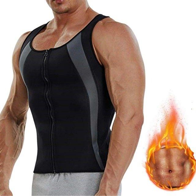 Camiseta Queima Gordura Calorias Camisa Exercícios Neoprene - Foto 2