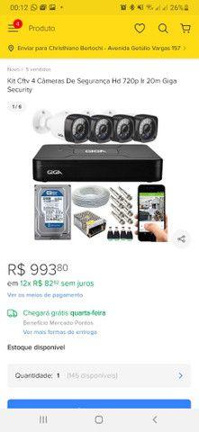 BARBADA! Kit completo CFTV 4 câmeras GIGA barato! - Foto 6