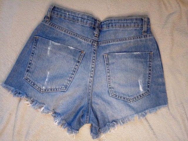 Short Jeans - Cintura alta - 34 - Foto 4