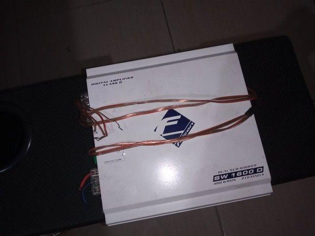 Caixa Sub com 2 falante de 12, 1 corneta e 1 twitter - Foto 4
