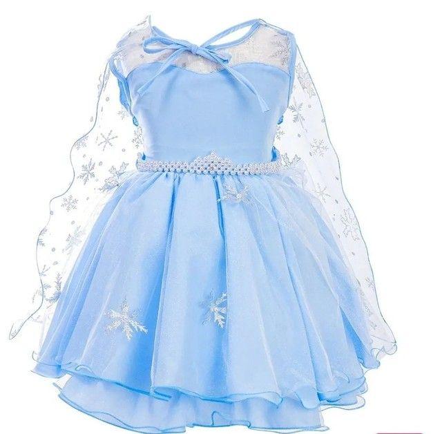 Vestido da frozen + capa + tiara