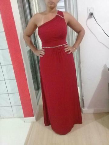 Vestido longo vermelho olx