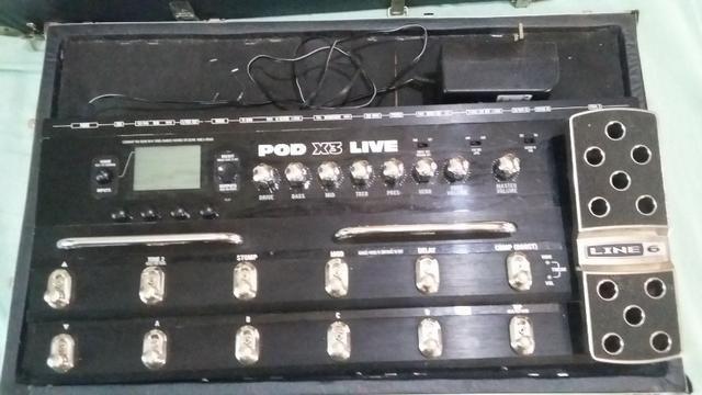 pedaleira pod x3 live da line 6 instrumentos musicais primor