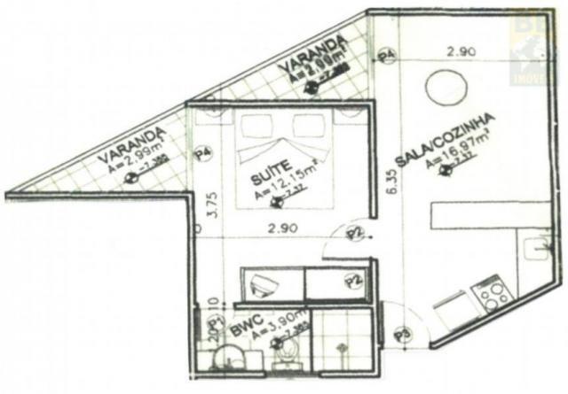 Flat para venda em natal, ponta negra, 1 dormitório, 1 banheiro, 1 vaga - Foto 8