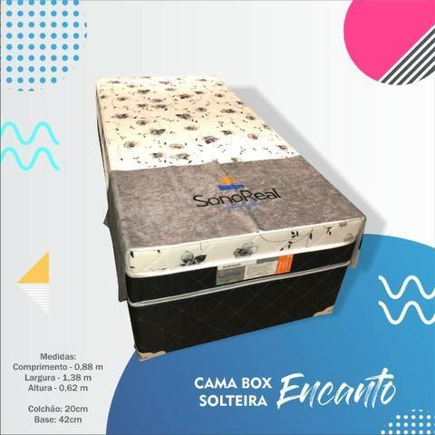 Cama Box Encanto de Solteiro Sono Real - Entrega Grátis - Foto 3