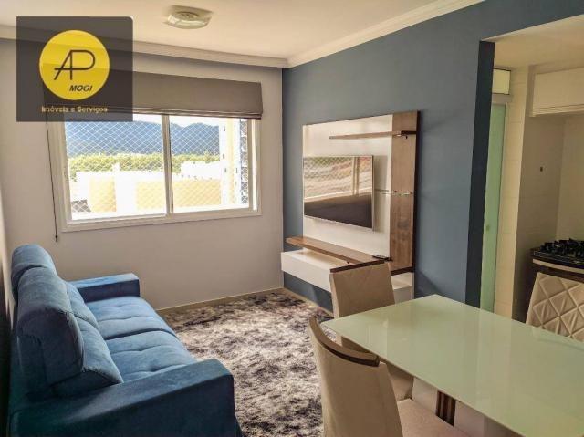 Apartamento com 1 dormitório para alugar, 46 m² - Centro Cívico - Mogi das Cruzes/SP
