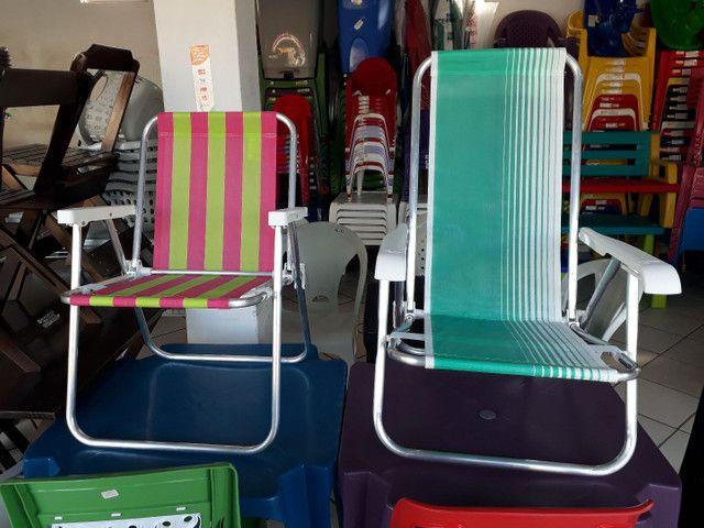 Cadeira de praia de alumínio  - Foto 2