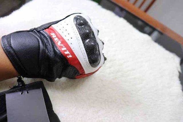 Luvas Rev'it - NOVA - tamanho M/G - L - Vermelho - Preto - Branco Em Couro - Foto 8
