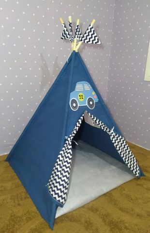 Cabana Infantil Barraca Tenda Com Colchonete Carrinho Novo