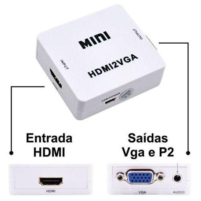 Adaptador Conversor Hdmi Para Vga Video Game Pc Monitor Vga