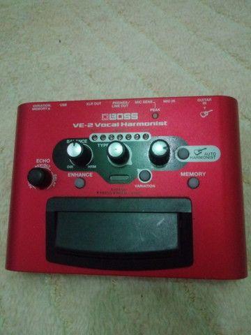 Pedal de voz ve-2 harmonist com fonte