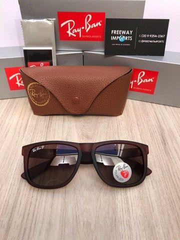 Óculos de sol Ray ban RB4165 marrom polarizado  - Foto 2