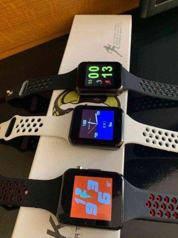 Relógio Smartwatch K1 Bluetooth e entrada para chip - Foto 3