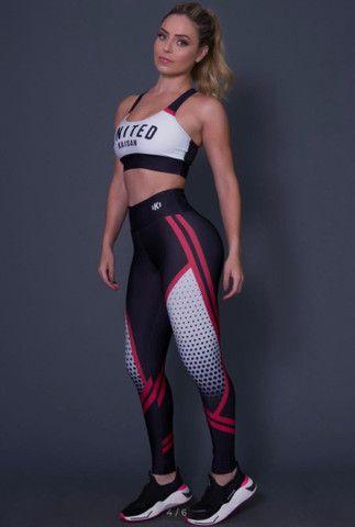 Conjuntos calça legging + top e short + top - Foto 4