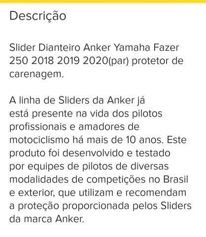 Slaider Anker Fazer 2018 em diante só 180. - Foto 3