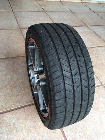 """jogo de rodas R18x7,5"""" multi-furos com pneus - Foto 4"""