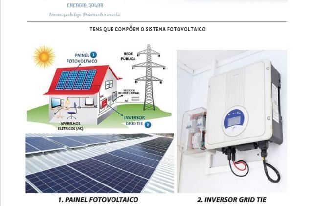 Energia solar - Kit solar básico para 450Kwh Mês