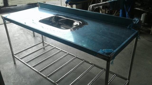 Bancada e bancadas em aço inox, tanques, pias, bojos de pia, mesas em inox - Foto 3