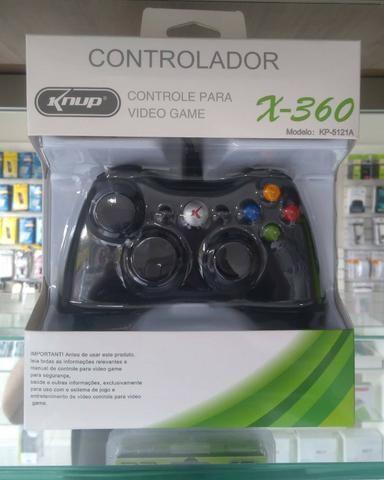 Controle Com Fio Para Xbox 360 Slim / Fat E Pc Joystick -(Loja na Cohab) - Foto 2