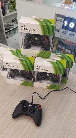Controle Com Fio Para Xbox 360 Slim / Fat E Pc Joystick -(Loja na Cohab)