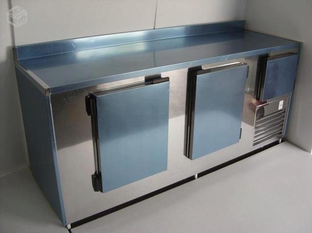Balcão frigorifico condimentador, com cubas refrigeradas, pizzaria/hamburgueria - Foto 5