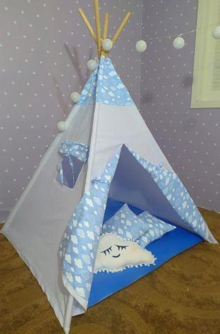 Cabana Infantil Barraca Tenda Com Colchonete Carrinho Novo - Foto 3
