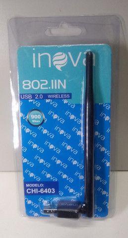 Antena Wi-fi Adaptador Wireless 900 Mbps Usb Pc Notebook - Foto 5