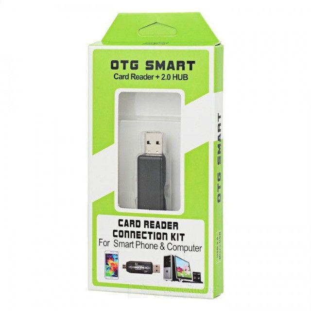 Otg Smart Card Reader 2.0 Hub para USB e Micro SD - Foto 2