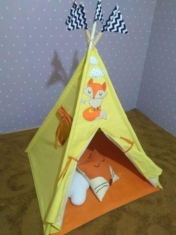Cabana Infantil Barraca Tenda Com Colchonete Carrinho Novo - Foto 6