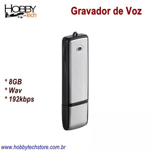 Gravador de Voz USB Pen Drive 8GB SK-858 - Novo - Foto 3